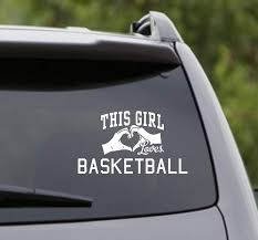 Amazon Com Dabbledown Decals This Girl Loves Basketball Decal Sticker Car Window Truck Laptop Tablet Home Kitchen