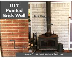 diy how to paint a brick fireplace