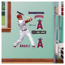 Mlb Los Angeles Angels Mike Trout Fathead Wall Decal Set Target