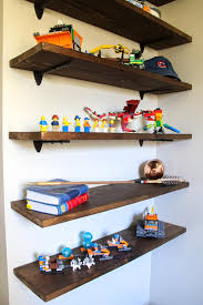 Diy Floating Lego Shelves Bright Green Door