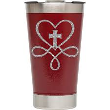 Glitter Heart With Cross Decal Sage And Serendipity