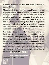 Destino Un Uomo - Oriana Fallaci | Destino, Affermazioni, Parola