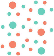 Amazon Com Coral Mint Green Vinyl Wall Stickers 2 4 Circles 30 Decals Home Kitchen