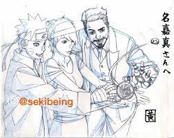 Arte de sekibeing um dos animadores de Naruto/Boruto, homenagem ao ...