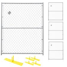 Perimeter Patrol 6 Ft X 20 Ft 4 Panel Powder Coated Chain Link Temporary Fencing Rf 0505 Cl The Home Depot