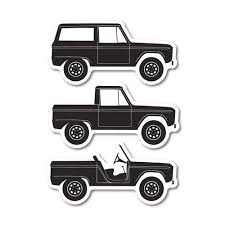 Ford Bronco Vinyl Cut Decals The Ford Merchandise Store