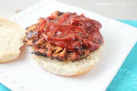 turkey burger and homemade bbq sauce