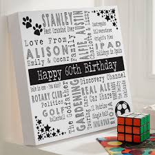 60th birthday personalized gift ideas