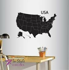 Vinyl Decal Map Of Usa United States Of America Country Art Wall Sticker 397 Ebay