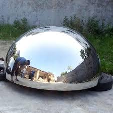 hemisphere mirror polished metal