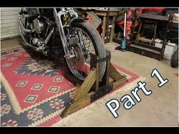 homemade motorcycle stand part 1 you