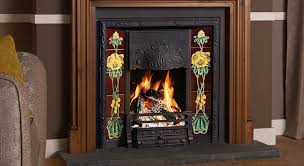 art nouveau tiled fireplaces stovax