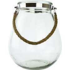 hurricane lantern with rope handle