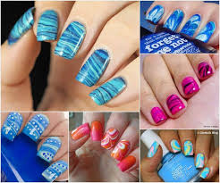 20 gorgeous water marble nail art designs
