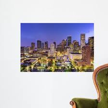Houston Texas Skyline Wall Decal Wallmonkeys Com