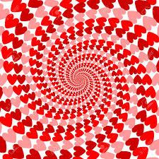 Diseño De Rayas Rojas Hélice Corazón El Movimiento De Fondo. Tarjeta Del  Día De San Valentín. Vector-ilustración Del Arte Ilustraciones Vectoriales,  Clip Art Vectorizado Libre De Derechos. Image 25781599.