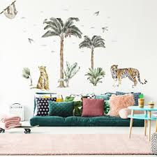 Big Jungle Palm Trees Wall Sticker For Happy Kids Rooms Made Of Sundays