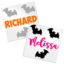 Bats With Name Decal For Cup Tumbler Glass Decals By Adavis