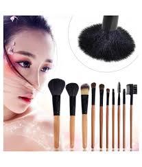 makeup brush with pu makeup bag