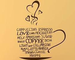 Coffee Mug Wall Decal Coffee Cup Vinyl Decal By Householdwords Coffee Decor Kitchen Coffee Decal Coffee Wall Art