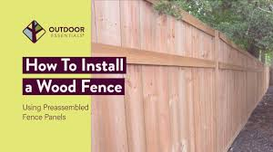 How To Build A Fence Using Pre Assembled Fence Panels Youtube