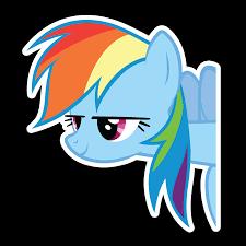 Peeker Anime Peeking Sticker Car Window Decal Pk476 My Little Pony Rainbow Dash Animestickershop