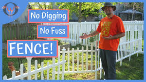No Dig Fence Easy Install Vinyl Garden Fencing From Zippity Outdoor Youtube