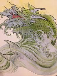 Original Chris Garver Painting! Dragon Tattoo One Of A Kind RARE ...