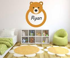 Custom Name Bear Wall Decal Egraphicstore