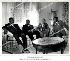 "Victor Gwande on Twitter: ""From the left chief Jeremiah Chirau, Reverend  Ndabaningi Sithole, Ian Douglas Smith and Abel Muzorewa  relaxing.#theOriginsofPOLAD… https://t.co/WWEJnIMB3m"""