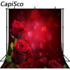 Capisco عيد الحب الفينيل خلفيات للتصوير الفوتوغرافي ورود حمراء