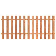 3 5 Ft H X 8 Ft W Western Red Cedar Flat Top Fence Panel Lowes Com Picket Fence Panels Wood Picket Fence Lattice Fence Panels