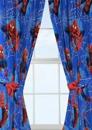 Marvel Spiderman Kids Bedroom Curtain Panel Set Set Of 2 63 Inch Length New Ebay