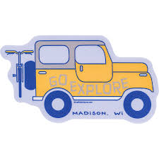 Blue 84 Jeep Go Explore Decal University Book Store