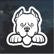 Pit Bull Pitbull Peeking Dog Window Decal Sticker Custom Sticker Shop