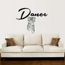 Ballet Slipper Shoes Wall Decal Dancing Ballerina Vinyl Sticker Dance Studio Zx9 Ebay