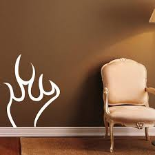 Shop Beautiful Fire Flame White Outline Vinyl Wall Decal Overstock 8756296