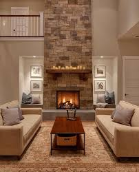 handcrafted and dry stacked fireplace