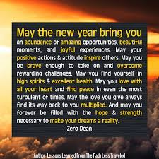 wishes for the new year zero dean