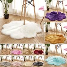 90cm Diameter Fluffy Area Rug Carpets Faux Fur Carpet Kids Room Long Plush Rugs Bedroom Shaggy Modern Mat For Living Room Decor Wish