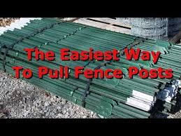 Diy T Post Puller The Easiest And Fastest Method Youtube