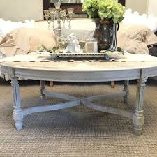 french provincial oval coffee table