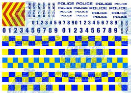 Uk European Police Decals My Custom Hotwheels Decal Store