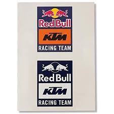 Amazon Com Genuine Oem Ktm Red Bull Racing Team Stickers Automotive