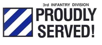 3rd Infantry Division Window Or Bumper Sticker