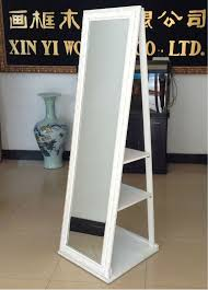 decorative rolling stand mirror for