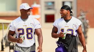Adrian Peterson of Minnesota Vikings glad Percy Harvin happy with Seattle  Seahawks