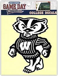 Amazon Com Ncaa Wisconsin Badgers Window Decal Stickers Sports Fan Decals Sports Outdoors