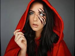 red riding hood halloween makeup
