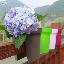 1pcs Flower Bridge Hanging Planter Plant Pots Trough Fence Balcony Railing Rail Balcony Hanging Planter Pot Aliexpress